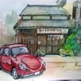 老舗うなぎ屋と昭和の名車。