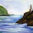 海上のマリア像