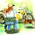 サイドカーと犬